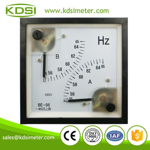 20 Years Manufacturing Experience BE-96 55-65 Hz 150V analog panel double frequency meter