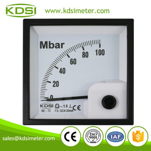 Portable precise BE-72 DC4-20mA 100Mbar dc analog pressure meter with ammeter output