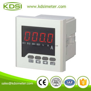 Square type 72x72 panel meter single phase ac digital ampere meter