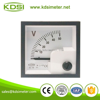 Small & high sensitivity BE-48 AC50V rectifier voltmeter panel voltmeter