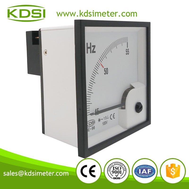 New Hot Sale Smart BE-96 45-55 Hz 100V analog electrical voltage frequency meter