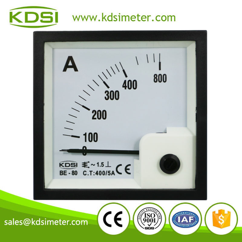 Factory direct sales BE-80 AC400/5A analog industrial ampere meter
