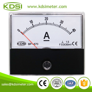 New Hot Sale Smart BP-670 DC60mV40A panel analog current meter for shunt