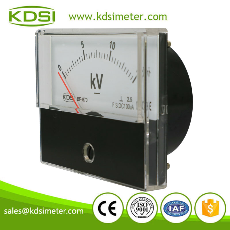 China Supplier BP-670 DC100uA 15kV analog panel voltage micro ammeter with output