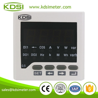 Square type BE-72DA DC+-60mV+-400A AC/DC80V-270V digital dc panel ammeter