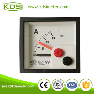 New model BE-48 AC75 / 5A with red pointer inductive ammeter