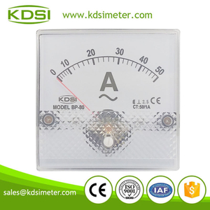 CE Approved BP-80 80*80 AC50/1A panel analog ammeter