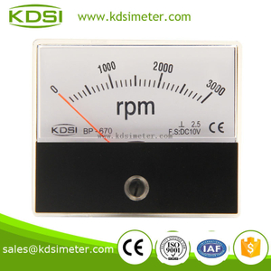 CE approved high quality BP-670 DC10V 3000rpm panel analog rpm tachometer