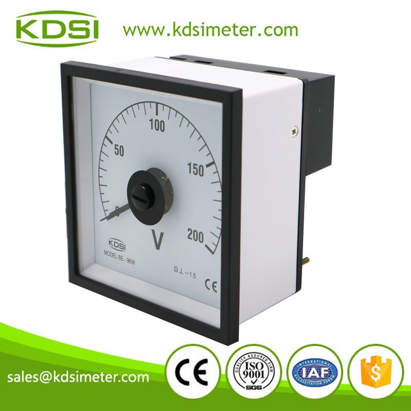 Manufacturer KDSI BE-96W DC200V Direct Input Analog Panel Meter Voltage Meter