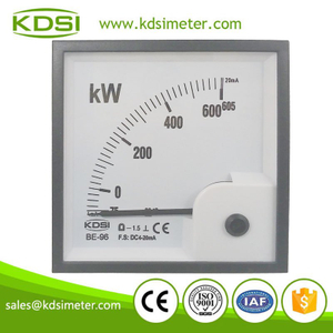 Square type classical BE-96 DC4-20mA 75-605kW inputting current display power analog panel meter