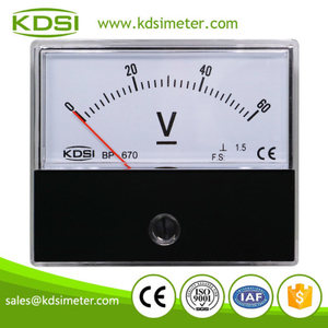 Factory direct sales BP-670 DC60V high precision panel analog mini voltmeter
