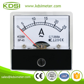 New Hot Sale Smart BP-45 AC25/5A analog panel moving iron ampere meter