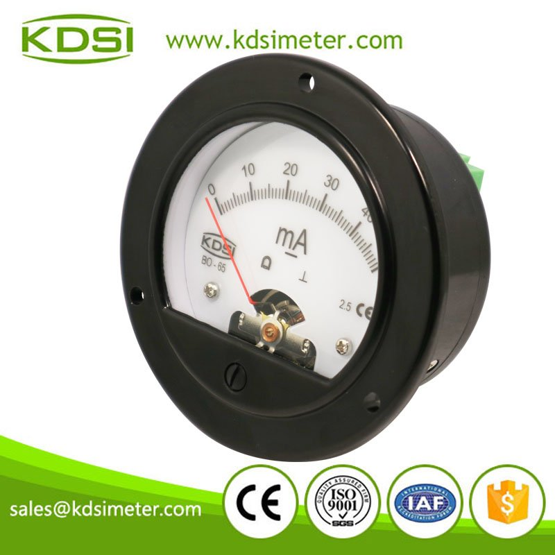 Round type BO-65 DC50mA analog panel backlighting milliammeter