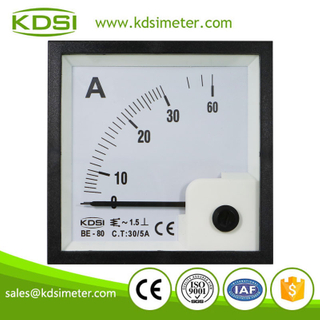 Hot Selling Good Quality BE-80 AC30/5A analog panel ac ampere meter