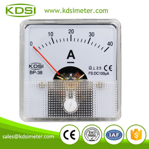 KDSI electronic apparatus BP-38 DC100uA 40A mini analog panel ampere meter