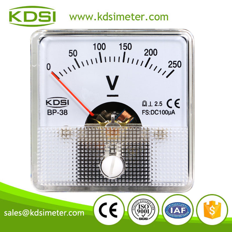 CE certificate BP-38 DC100uA 250V mini analog panel current amp voltmeter