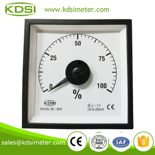 Wide Angle Meter BE-96W DC4-20mA 100% load ammeter