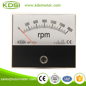 Easy operation BP-670 DC200V 1800rpm analog rpm meter