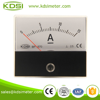 CE certificate BP-670 DC15A analog ammeter