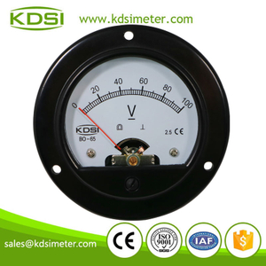 High quality professional BO-65 DC100V analog panel round voltmeter