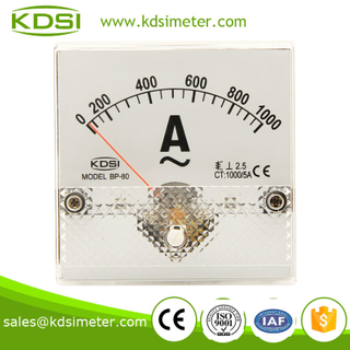 Factory direct sales BP-80 80*80 AC1000/5A panel mount ammeter