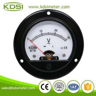 CE Approved BO-65 AC30V rectifier panel backlighting ac round voltmeter