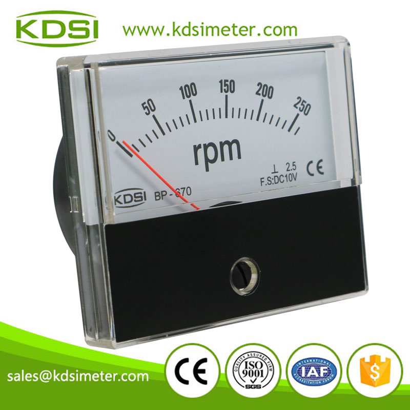 Easy installation BP-670 DC10V 260rpm panel analog tachometer universal /rpm meter