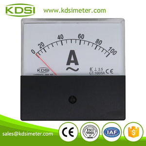 Safe to operate BP-80 AC100/5A with black cover ac analog panel price of ammeters