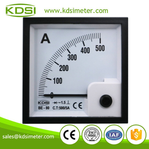 20 Year Top Manufacturer of CE,ISO passed BE-80 AC500/5A rectifier analog panel high current meter