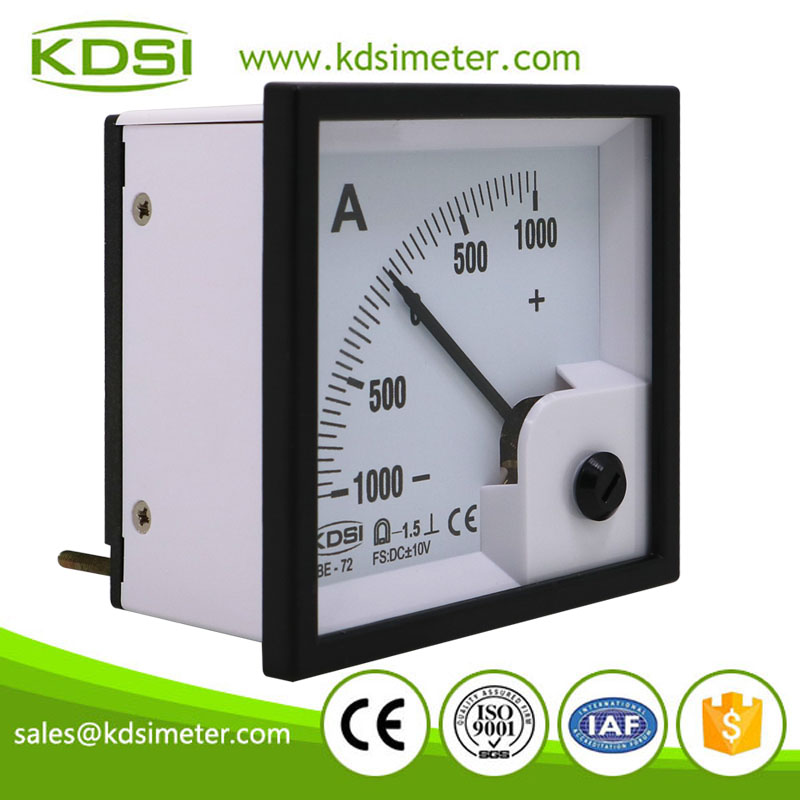 Factory direct sales BE-72 DC+-10V +-1000A analog ampere panel dc high precision ammeter