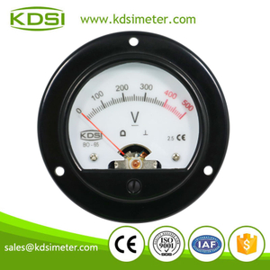 Hot Selling Good Quality BO-65 DC500V with backlighting 6V round analog panel meter