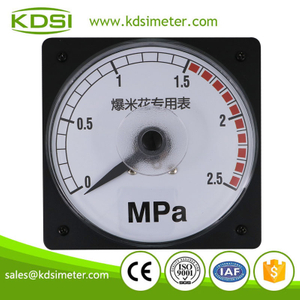 Classical LS-110 DC4-20mA 2.5MPa wide angle analog special meter for Popcorn