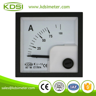 Factory direct sales BE-48 AC75/1A analog ac panel ammeter for current transformer