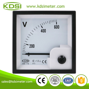 Safe to operate BE-72 AC600V direct analog panel ac 600v voltmeter