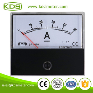 Small & high sensitivity BP-670 DC50mV 50A analog dc panel mount ammeter