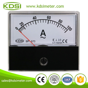Hot Selling Good Quality BP-670 AC100/5A analog amp current panel meter