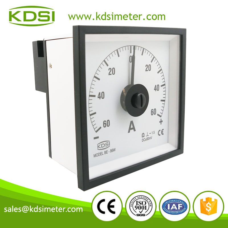 Factory direct sales BE-96W DC+-60mV +-60A analog zero center meter