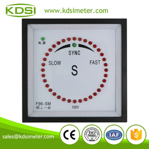 High quality professional F96-SM 100V Sync Pulse Type panel LED generator synchroscope meter