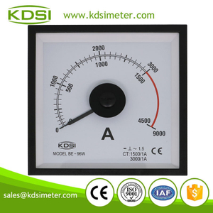Wide angle marine type new design BE-96W AC1500-3000/1A 3times analog amp marine instrument panel