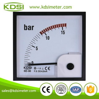 High quality professional BE-96 DC4-20mA 16bar dc analog current panel pressure meter