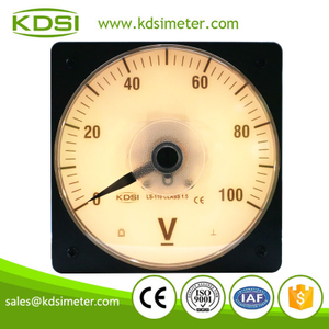 High quality professional LS-110 DC100V backlighting analog high voltage panel meter