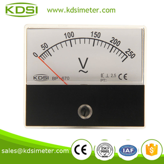BP-670 AC Voltmeter AC250V taiwan technology panel meter