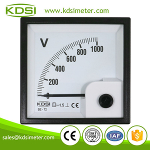 Original manufacturer high Quality BE-72 DC1000V direct analog high voltage panel meter