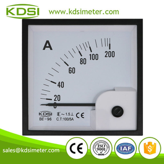 High quality professional BE-96 AC100/5A ac panel analog ampere meter