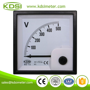 High quality professional BE-72 AC500V rectifier analog panel mount voltmeter