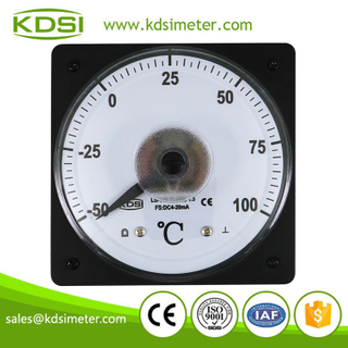 Factory direct sales LS-110 4-20mA 100C panel analog high temperature meter with 4-20mA output