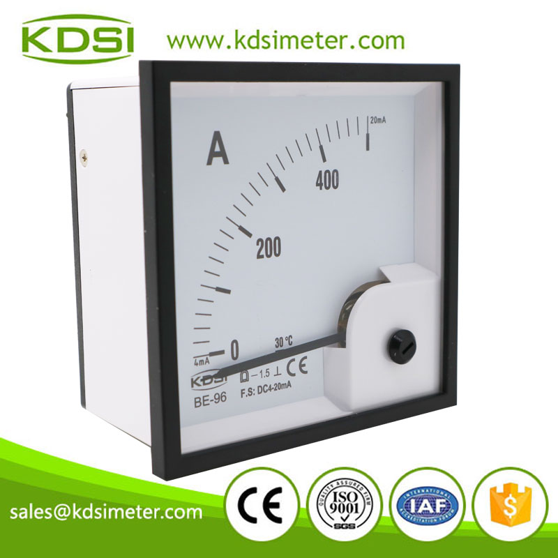 CE Approved BE-96 DC4-20mA 500A analog dc amp panel meter with 4-20mA output