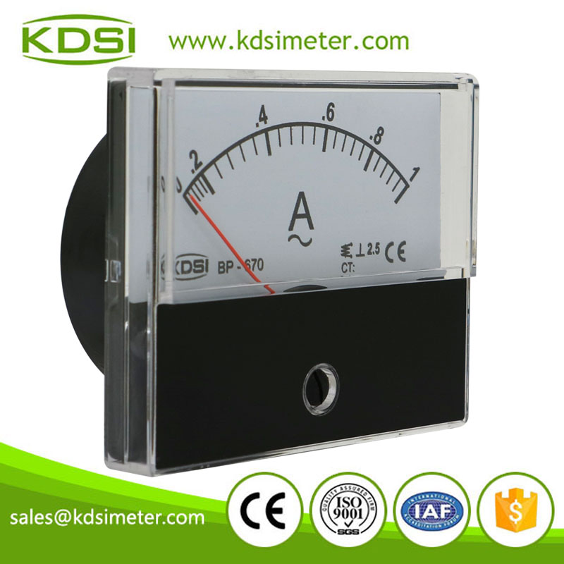 KDSI electronic apparatus BP-670 AC1A analog ac panel small ammeter