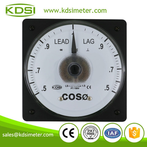 Taiwan technology LS-110 COS 5A 100V analog panel power factor meter