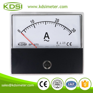 Easy operation BP-670 AC30A analog ac panel ammeter with output